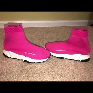 Pink sock runner size 38